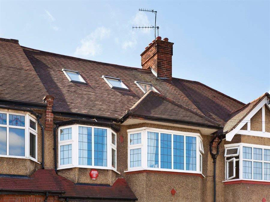 loft conversions steel beams - roof view