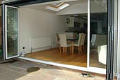 rear extension with bi-fold doors to create open living