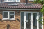 rear extension with large velux windows