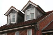 twin dormers with lead finish